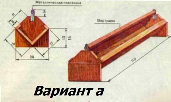 Чертеж деревянной кормушки для птицы