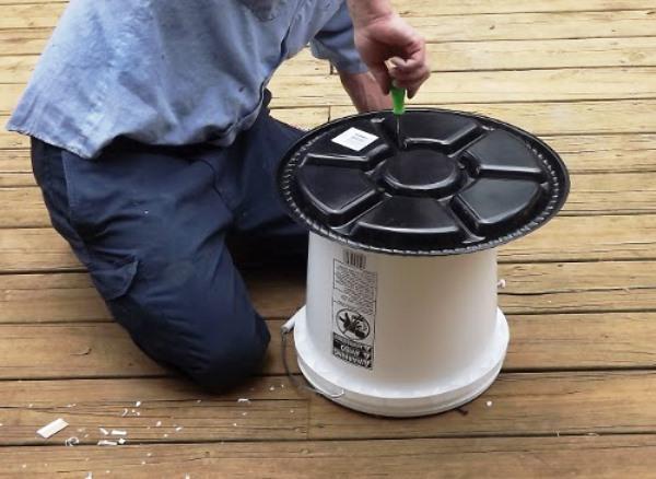 Прикручивание приемной части для зерна