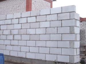 Фото стены из пеноблоков