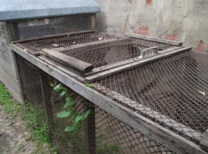 Самодельная клетка для цыплят