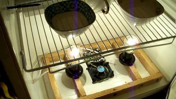 Система подогрева и увлажнения инкубатора