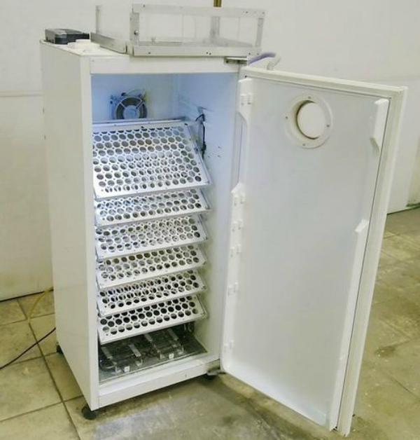 Внутреннее устройство инкубатора из холодильника