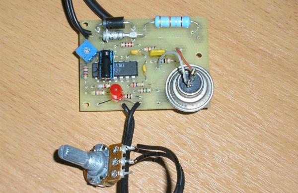 Один из вариантов сборки регулятора температуры