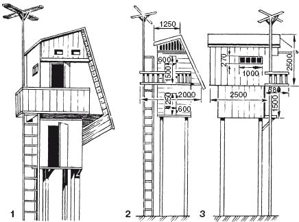 Схема столбовой голубятни на две пары голубей