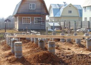 Фото фундамента столбчатой конструкции