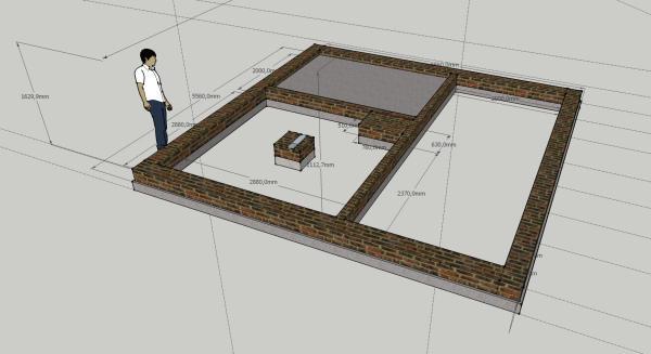 Строительство курятника начинается с фундамента